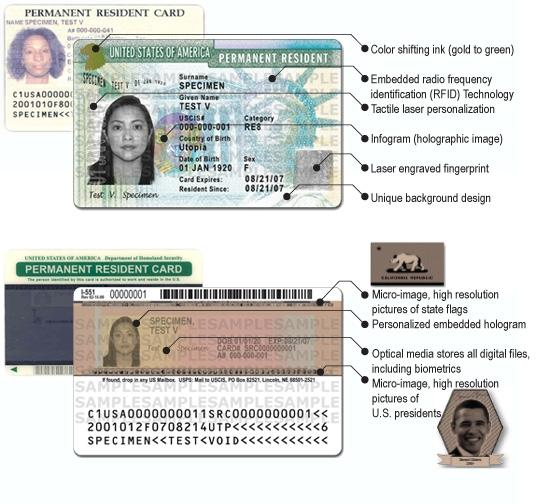 Newly Redesigned Green Card