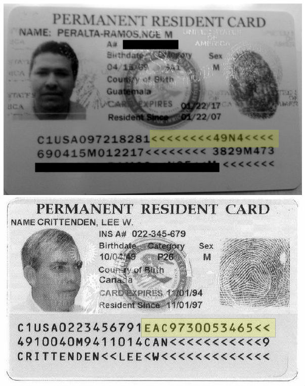 permanent resident card document number Missing document number clear indication of fake Permanent Resident ...
